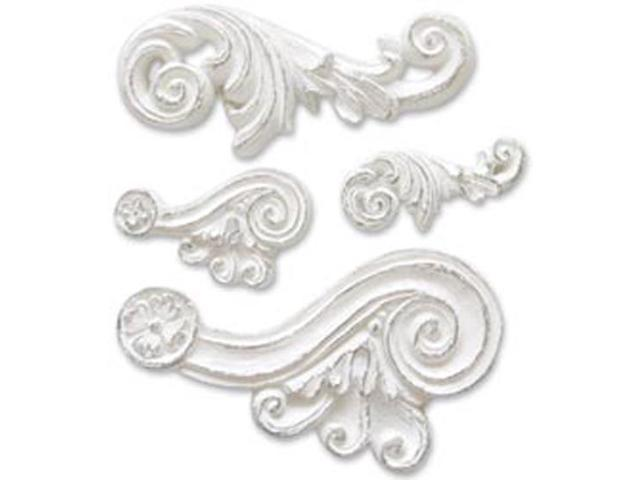 Scroll Resin Embellishment-