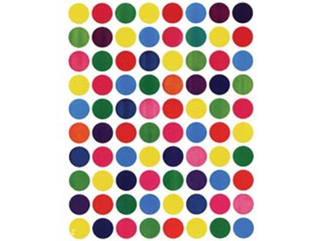 Sticker Forms Self Adhesive Stickers-Assorted Colors 1/2