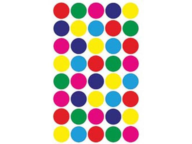 Sticker Forms Self Adhesive Stickers-Assorted Colors 3/4