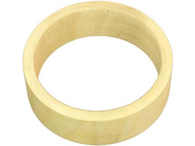Unfinished Wooden Bangle Bracelet Flat Exterior-Medium 1