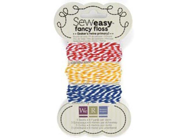 Sew Easy Fancy Floss Bakers Twine-Primary