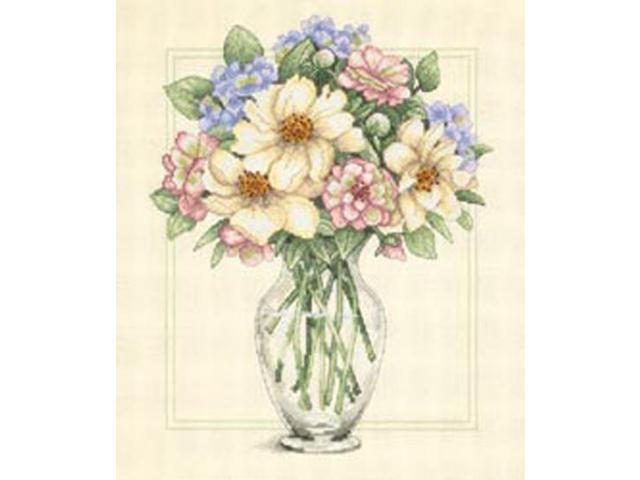 Flowers In Tall Vase Counted Cross Stitch Kit-12