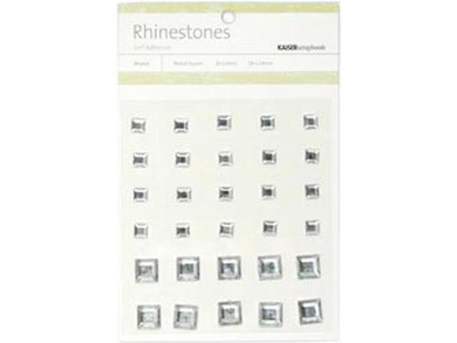 Self-Adhesive Rhinestones 30/Pkg-Square Mix-Silver