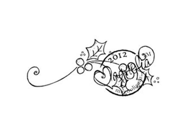 A Christmas Story Cling Stamp-Holy Swirl
