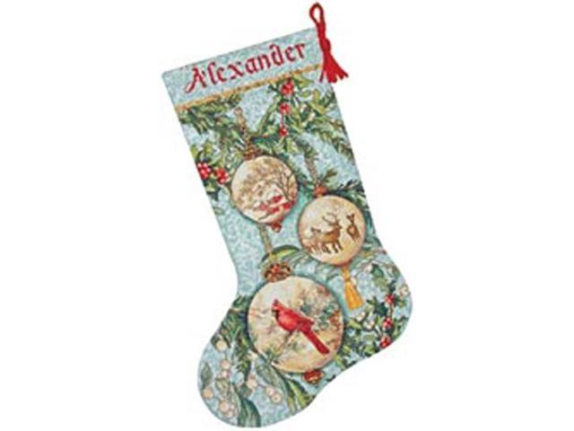 Gold Collection Enchanted Ornament Stocking Counted Cross St-16