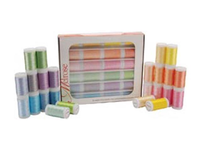 Melrose Trilobal Polyester Thread Assortment 24 Colors-Pastels