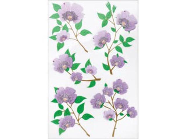 Martha Stewart Stickers-Purple Blossom