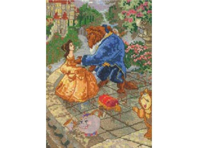 Beauty & The Beast Vignette Counted Cross Stitch Kit-5