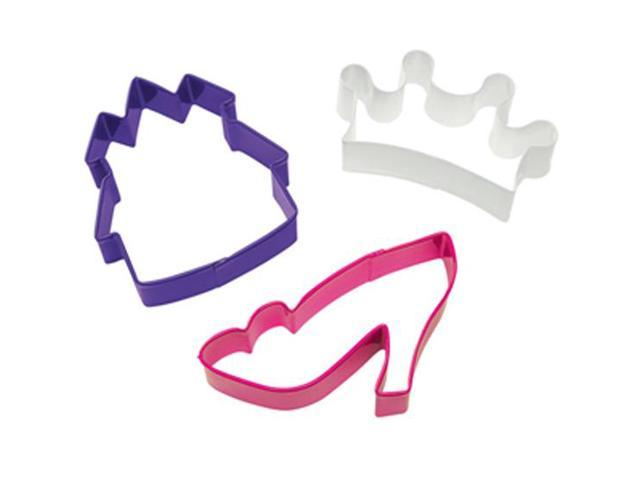 Wilton PRINCESS COOKIE CUTTER SET Castle Slipper Crown