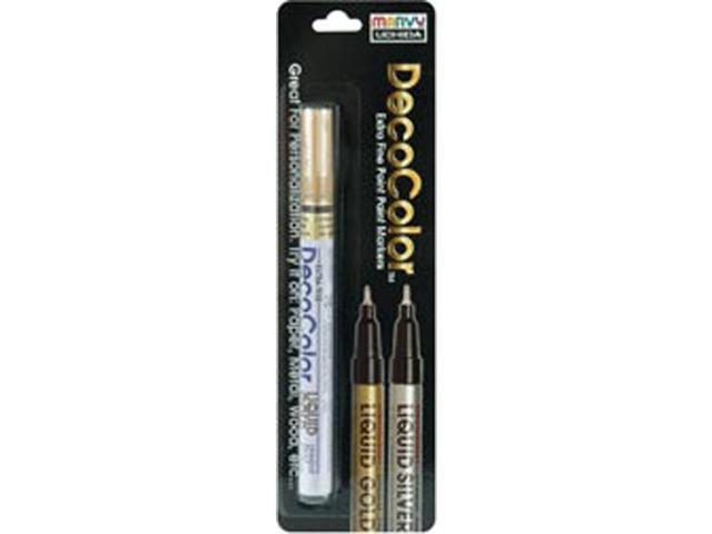 Deco Color Extra Fine Metallic Paint Marker 1/Pkg-Liquid Gold