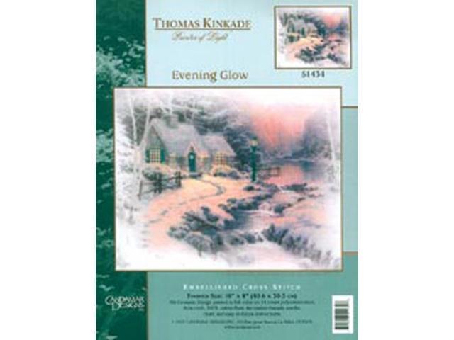 Thomas Kinkade Evening Glow  Embellished Cross Stitch Kit-10