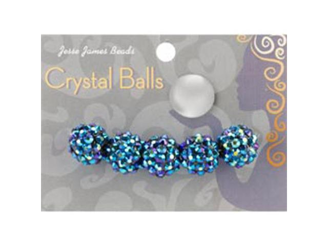 Crystal Ball Beads 14mm 5/Pkg-Style 29