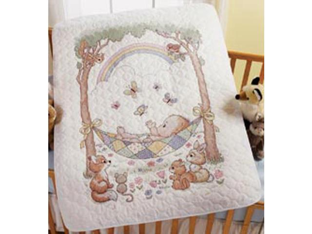 Our Little Blessing Crib Cover Stamped Cross Stitch Kit-34