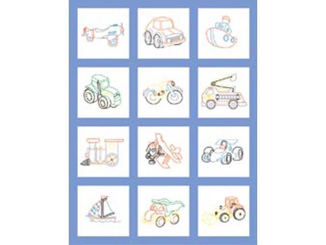 Stamped Baby Quilt Blocks 18