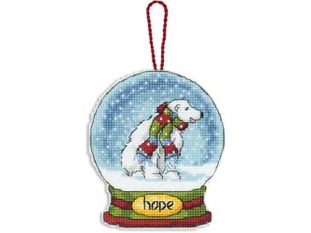Hope Snowglobe Counted Cross Stitch Kit-3-3/4