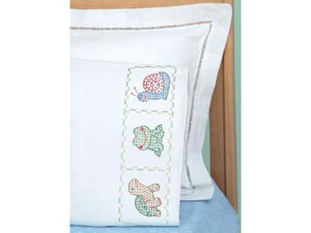 Children's Stamped Pillowcase With White Perle Edge 1/Pkg-Froggy