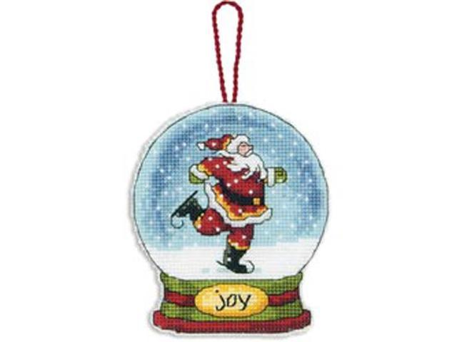 Joy Snowglobe Counted Cross Stitch Kit-3-3/4