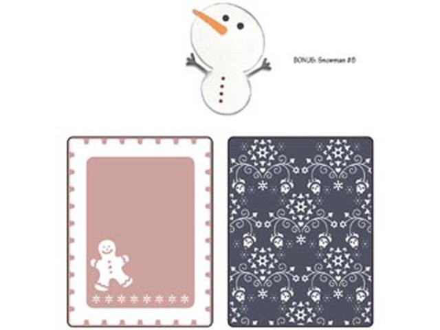 Sizzix Textured Impressions/Bonus Sizzlits By Basic Grey-Nordic Holiday Gingerbread Man; Flowers