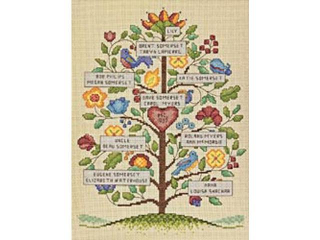 Vintage Family Tree Counted Cross Stitch Kit-9