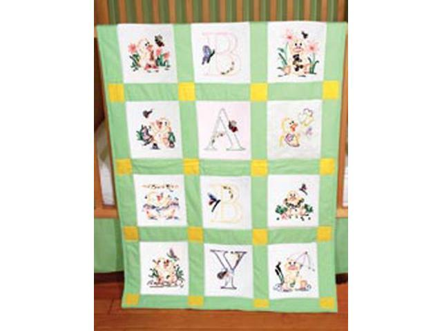 Stamped Baby Quilt Blocks 18