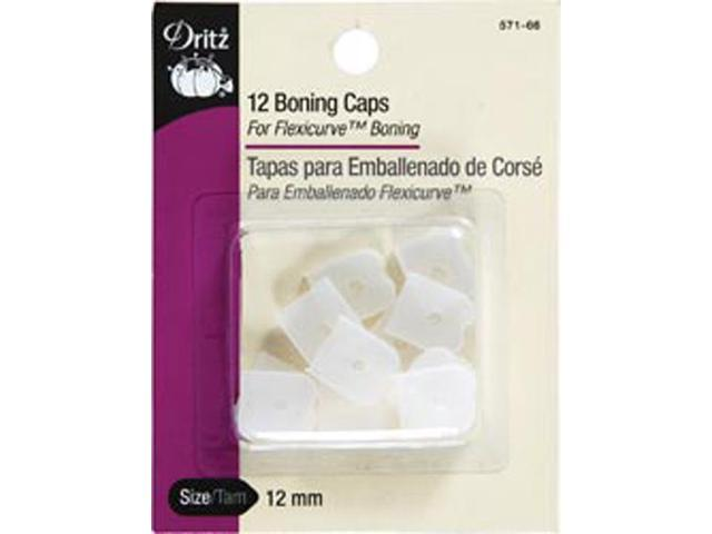 Silicone Boning Caps Sew-In-Clear 12/Pkg