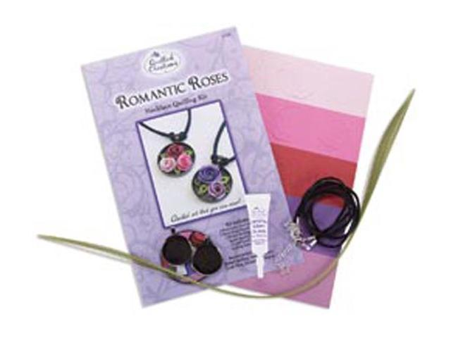 Quilling Kit-Romantic Roses Necklace