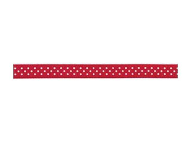 Grosgrain With Dots Ribbon .375