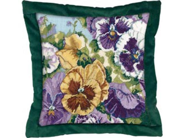 Glorious Pansies Needlepoint Kit-14