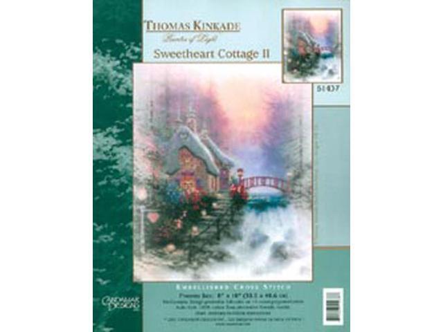 Thomas Kinkade Sweet Heart Cottage II Embellished Cross Sti-10