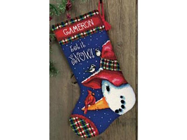 Snowman Perch Needlepoint Kit-13