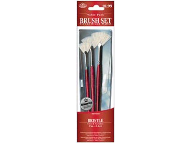 Brush Set Value Pack Bristle 3/Pkg-Fan 2,4,6