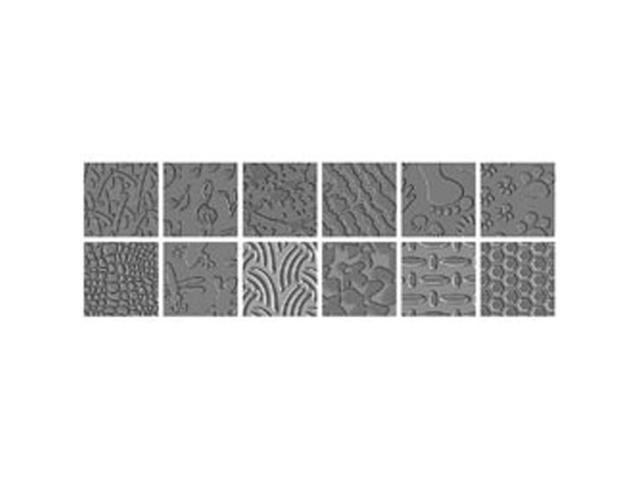 Texture Plate Double-Sided Assortment III 6/Pkg-12 Designs