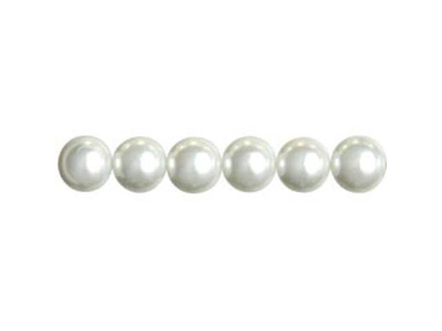 Jewelry Basics Pearl Beads 10mm 58/Pkg-White Round