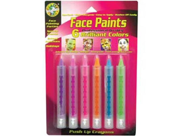 Push Up Face Paint 6/Pkg-Brilliant