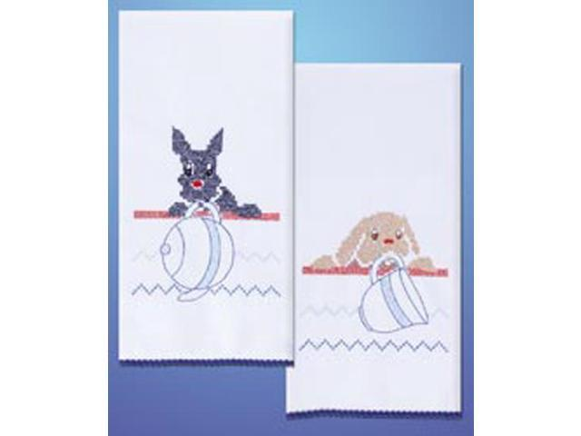 Stamped Kitchen Towels For Embroidery-Dogs