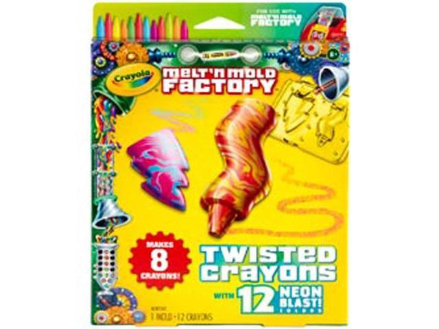 Melt 'n Mold Factory Kit-Twisted Crayons - Neon Blast Pack