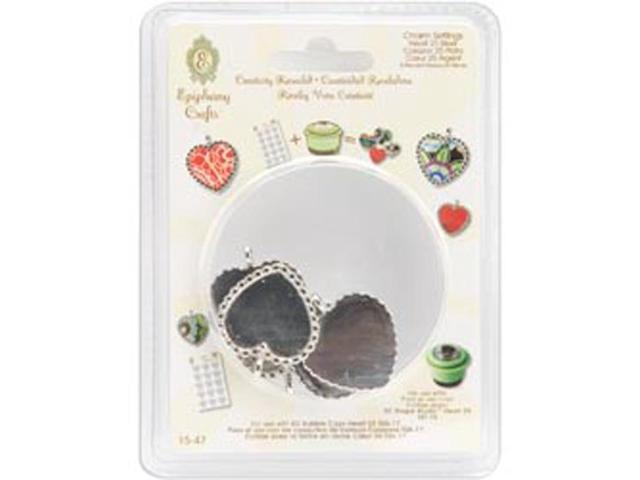 Epiphany Craft Heart 25 Metal Charms-
