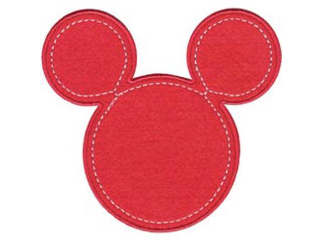 Disney Mickey Mouse Minnie Pink Silhouette Iron-On Applique-