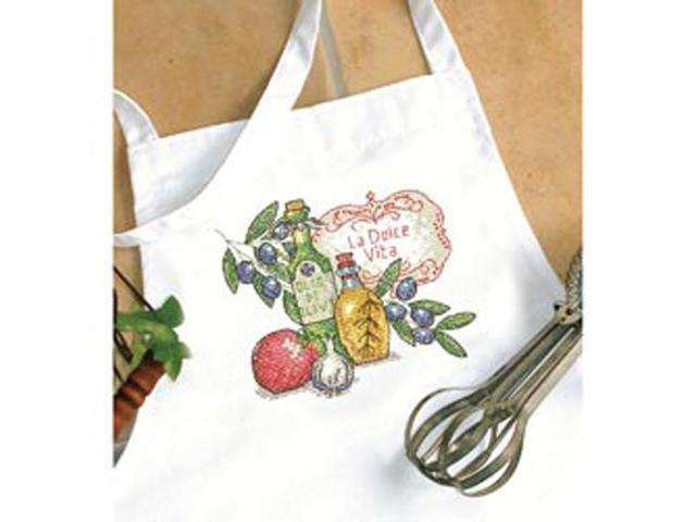 Tuscan Flavor Apron Stamped Cross Stitch -
