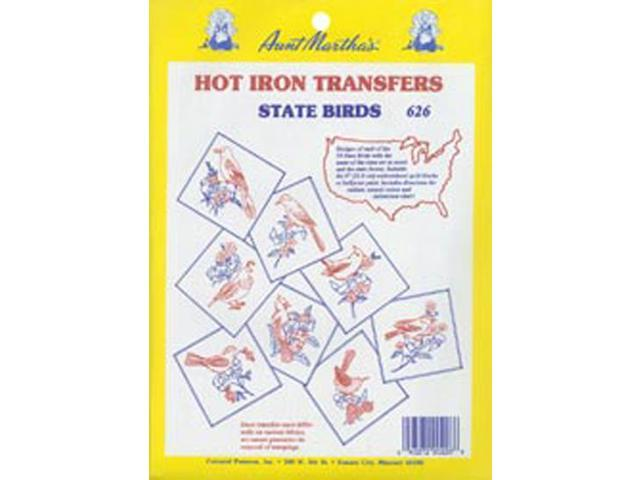 Aunt Martha's Iron-On Transfer Collections-50 State Birds
