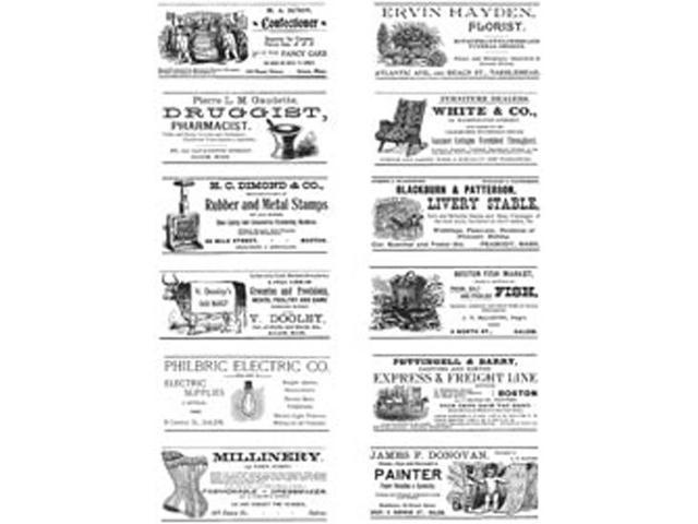Tim Holtz Large Cling Rubber Stamp Set-Adverts