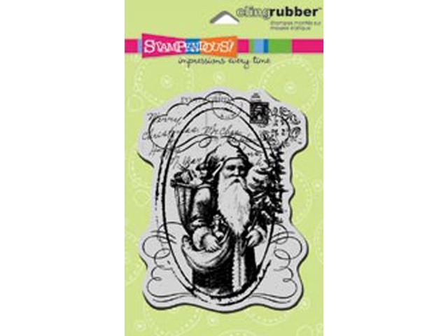 Stampendous Christmas Cling Rubber Stamp-Saint Nick