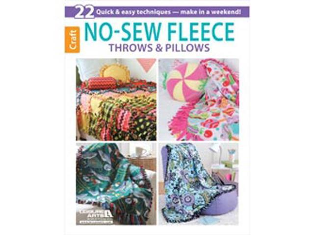 Leisure Arts-No-Sew Fleece Throws & Pillows