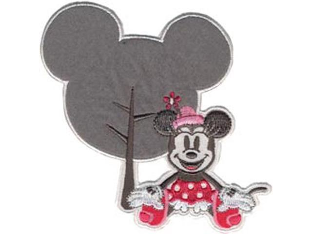Disney Mickey Mouse Minnie W/Silhouette Iron-On Applique-