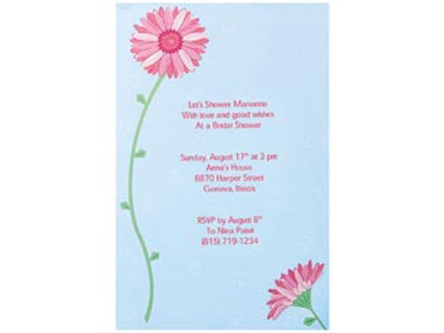 Invitation Kit Makes 12-Pink Gerber Daisy