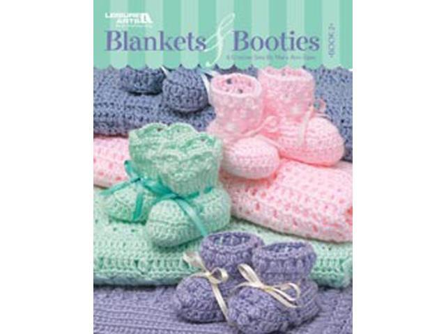 Leisure Arts-Blankets & Booties; Book 2