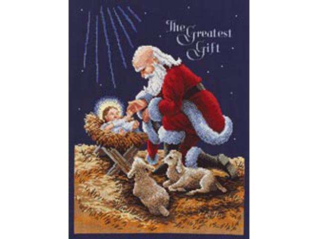 Kneeling Santa Counted Cross Stitch Kit-11