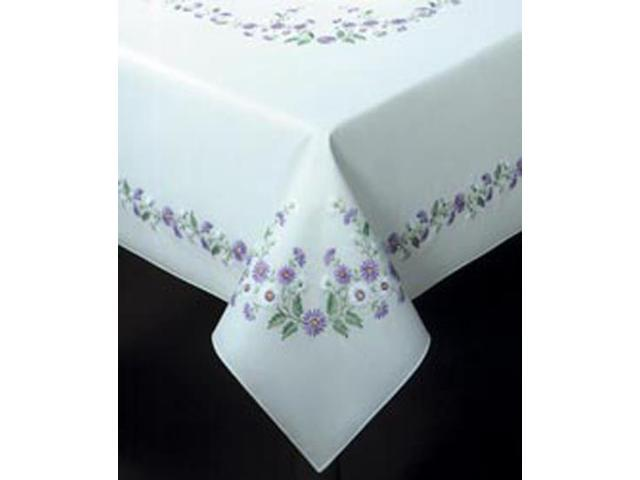 Rhapsody Stamped Oblong Tablecloth For Embroidery-50