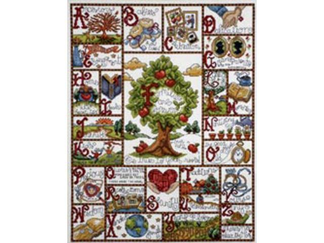 Families ABC Sampler Counted Cross Stitch Kit-16