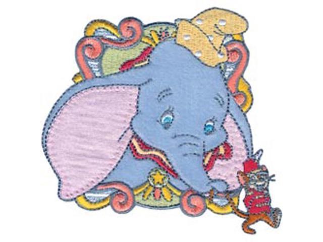Disney Dumbo In Circus Car Iron-On Applique-